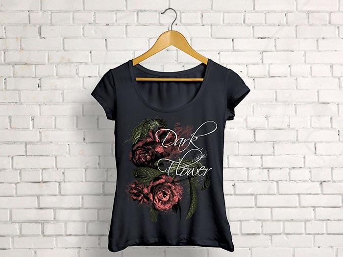 print textile flower