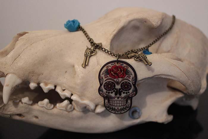 bijoux mexican skull