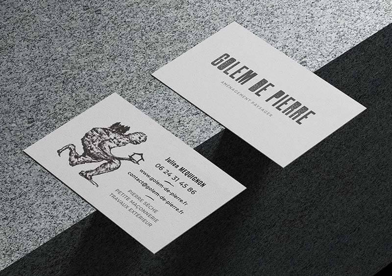 alice vesta graphiste carte de visite golem de pierre nimes gard