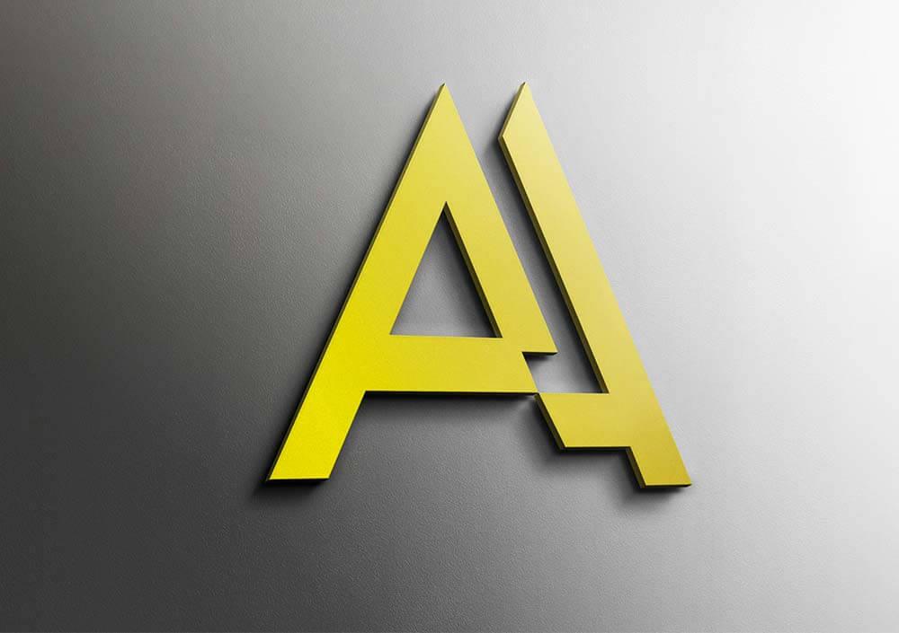 Vesta graphiste creation logo nimes monogramme aa perform commerciale