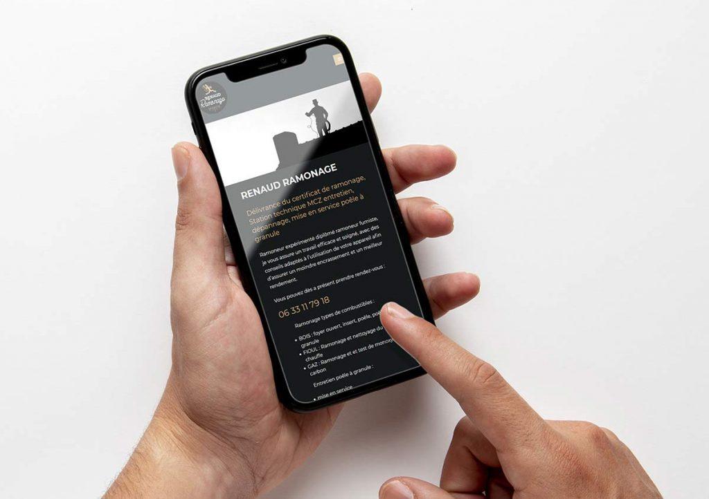 création Vesta : site renaud ramonage responsive