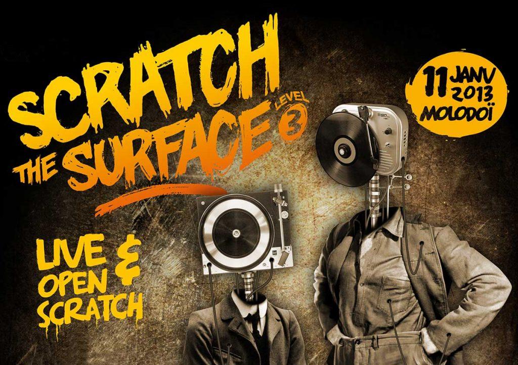 vesta création affiche évènement scracth the surface